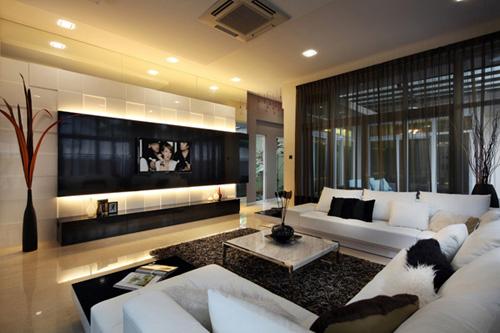 Kê tivi siêu mỏng trong phòng khách 3