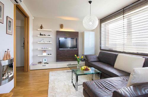 Kê tivi siêu mỏng trong phòng khách 11