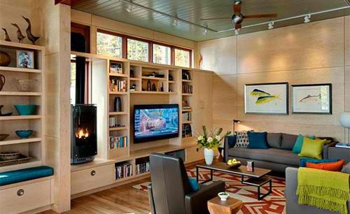 Kê tivi siêu mỏng trong phòng khách 7