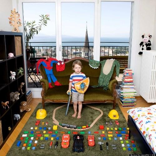 Bé Julius, 3 tuổi ở Lausanne, Thụy Sĩ.