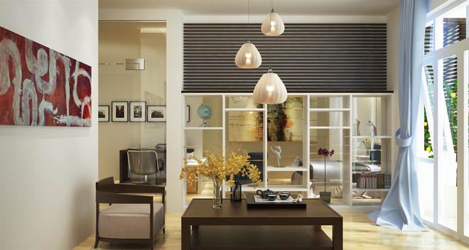 Nhà dùng phần lớn chất liệu gỗ với màu sắc mộc tự nhiên 2