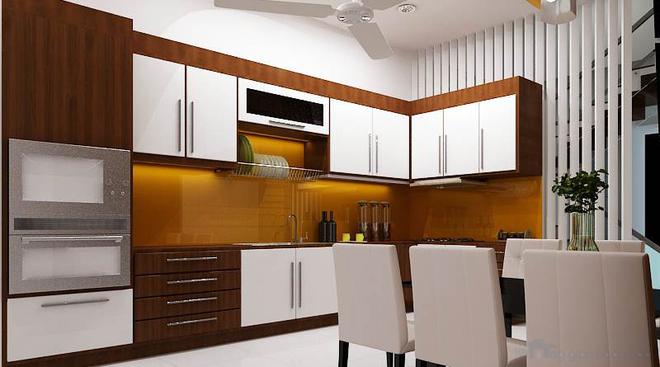 Nhà dùng phần lớn chất liệu gỗ với màu sắc mộc tự nhiên 3