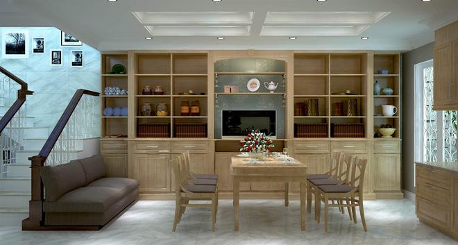 Nhà dùng phần lớn chất liệu gỗ với màu sắc mộc tự nhiên 6