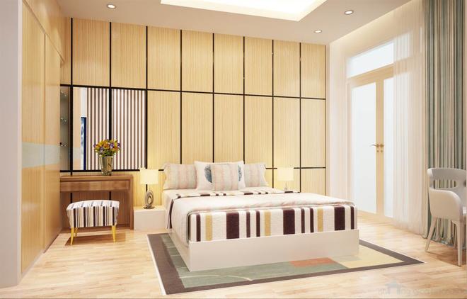 Nhà dùng phần lớn chất liệu gỗ với màu sắc mộc tự nhiên 8