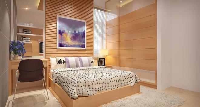 Nhà dùng phần lớn chất liệu gỗ với màu sắc mộc tự nhiên 9