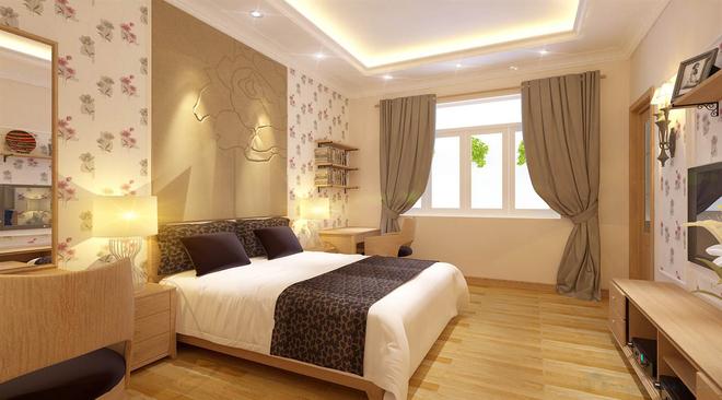 Nhà dùng phần lớn chất liệu gỗ với màu sắc mộc tự nhiên 10