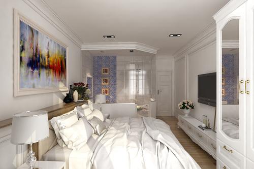 Khi kiến trúc sư đề xuất sử dụng vách kính trong suốt kết hợp với rèm cuốn bên trong hai vợ chồng gia chủ tỏ ra thích thú vì như thế mới xóa đi được cảm giác chật chội của ngôi nhà 30m2!