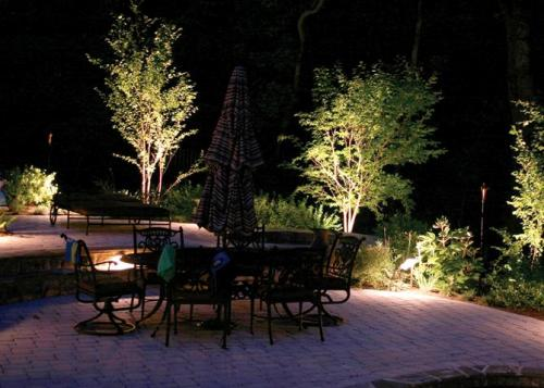 Những ánh sáng phát ra từ các khóm cây hay những ngọn đèn dùng để trang trí là những chi tiết huyền diệu, không chỉ giúp cho khu vườn trở nên diễm lệ mỗi khi chiều xuống mà còn có tác dụng kích hoạt năng lượng có ích luân chuyển quanh khu vườn, tạo ra một khung cảnh vui mắt và có hồn.