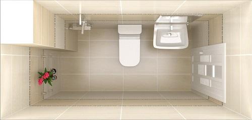 Phòng vệ sinh dưới trệt đi tông màu sáng tạo cảm giác sạch sẽ thóang đãng