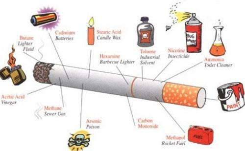 Khói tỏa ra từ đầu điếu thuốc đang cháy độc hơn khói do người hút hít vào.