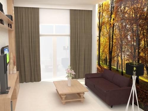 Không gian phòng khách cần thiết một bức tranh tường, làm điểm nhấn, và không gian như thóáng đãng hơn.