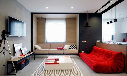 Không khí tươi vui trong căn hộ 56 m2