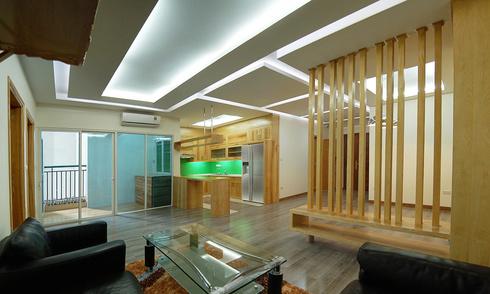 Căn hộ tươi sáng với nội thất gỗ sồi