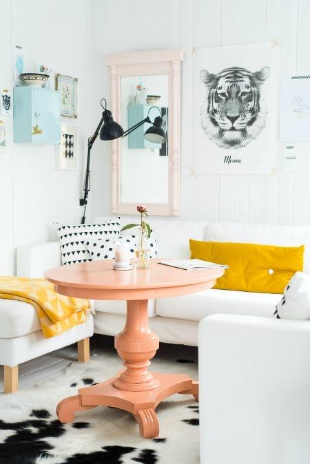 Nhà đẹp với nội thất màu pastel