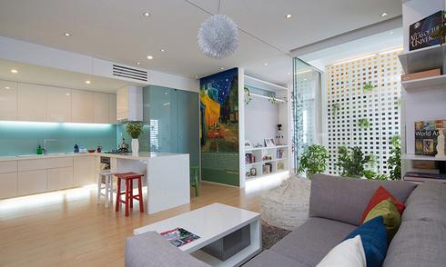Căn hộ chung cư 75 m2 thoáng đãng sau khi sửa