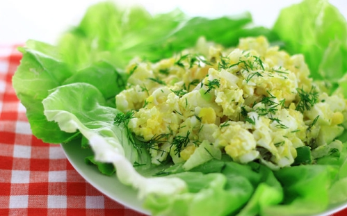Salad trứng. Ảnh: Wikihow.