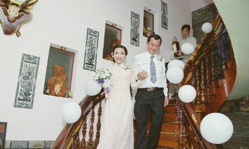 Cô gái giảm gần 40 kg để mặc vừa áo dài cưới