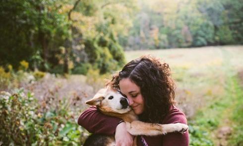Khoảnh khắc cô chủ nhỏ chia tay chú chó 16 tuổi