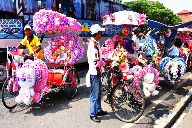 Xích lô tình yêu ở phố cổ Malacca