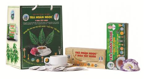 Sản phẩm trà túi lọc 7 Nga Tây Ninh từ năm 2001.