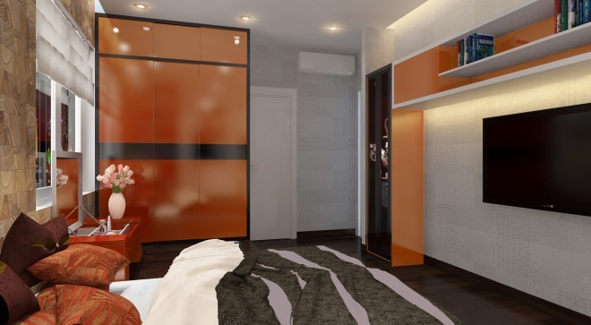 Bố trí căn hộ 121 m2 có 3 phòng ngủ