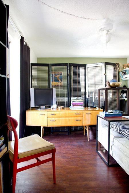 Bố trí căn hộ 37 m2 có nhiều đồ đạc