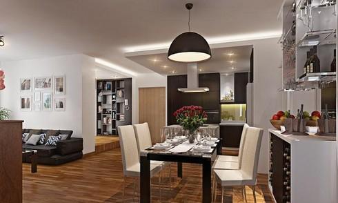Cải tạo căn hộ 140 m2 có 2 phòng ngủ