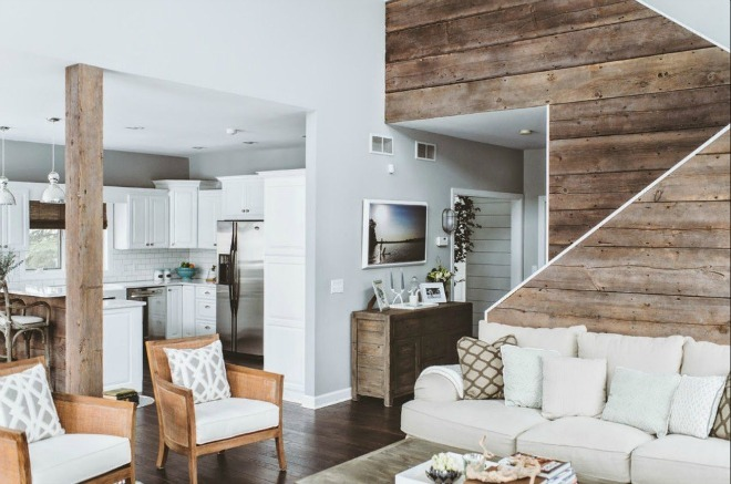 Làm mới căn nhà bằng gỗ mộc