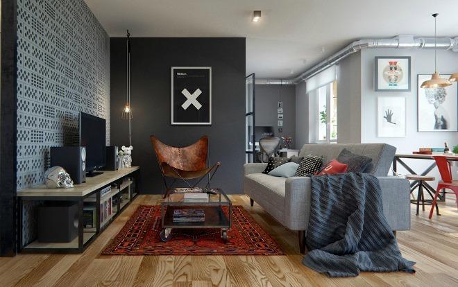Căn hộ 69 m2 sáng tạo cho người yêu nghệ thuật