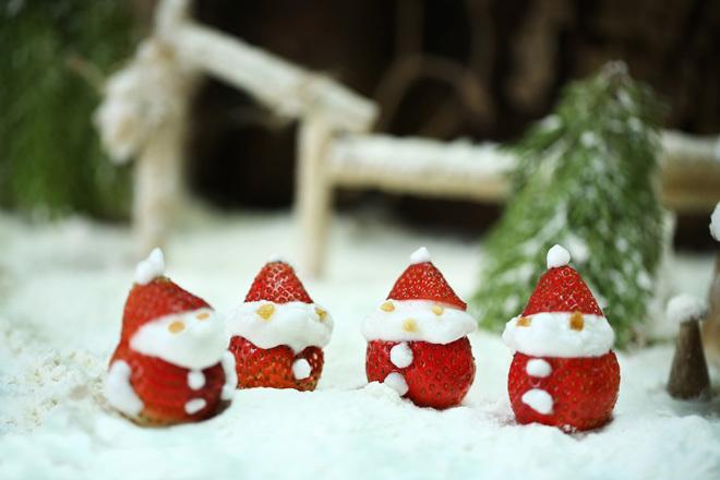 Biến rau quả thành đồ trang trí Giáng sinh