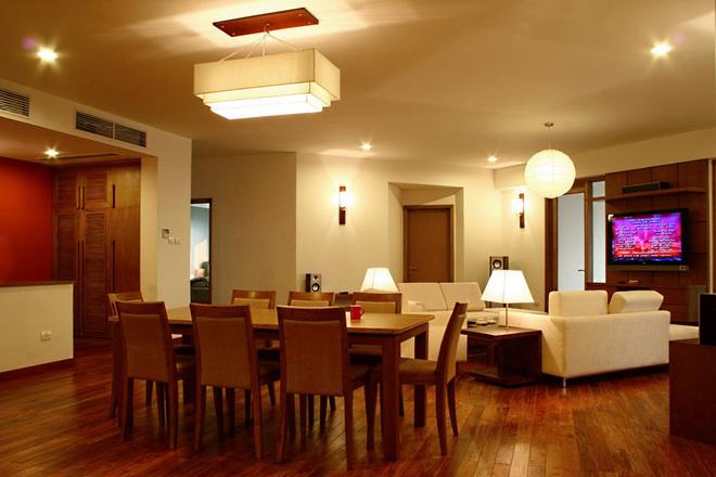 Căn hộ 4 phòng ngủ với nội thất đơn giản
