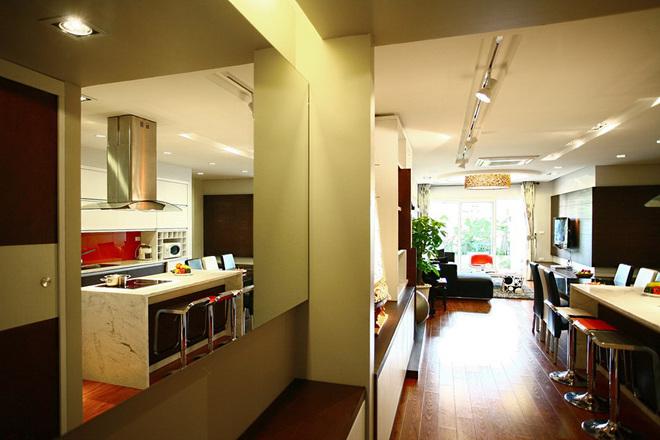 Bố trí căn hộ 130 m2 cho gia đình trẻ
