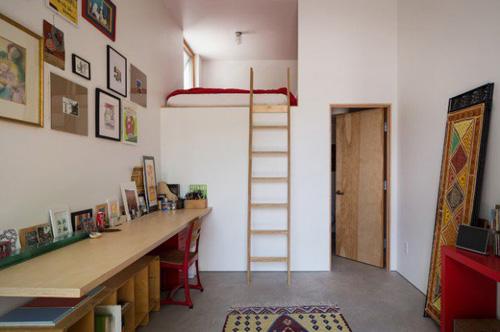 Gác xép tăng diện tích cho nhà một tầng
