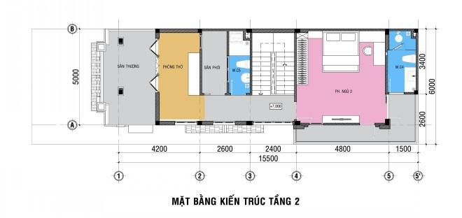 Nhà 3 tầng sang trọng cho gia đình 4 người
