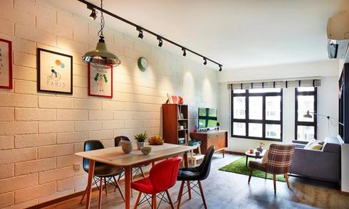 Thiết kế vui vẻ cho căn hộ chung cư