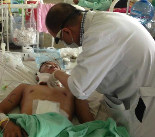 Bệnh nhân hiện đang được điều trị tại Bệnh viện Chợ Rẫy. Ảnh: C.R