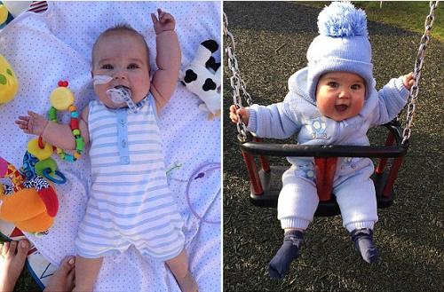 Sau 9 ca phẫu thuật với 3 lần đối diện tử thần, bé trai đã hồi phục kỳ diệu và trở về nhà cùng cha mẹ. Ảnh: dailynewsleaks