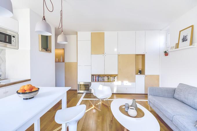 Bố trí căn hộ 30 m2 cho hai người ở