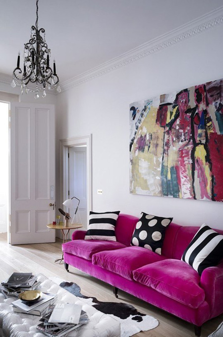2 2 3379 1431328216 - Phòng khách sinh động nhờ sofa màu sắc