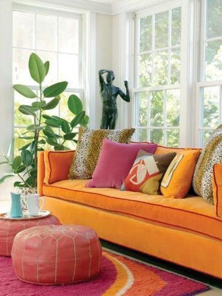 3 3 7694 1431328216 - Phòng khách sinh động nhờ sofa màu sắc