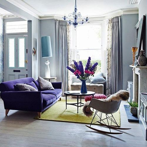 6 2 7093 1431328217 - Phòng khách sinh động nhờ sofa màu sắc