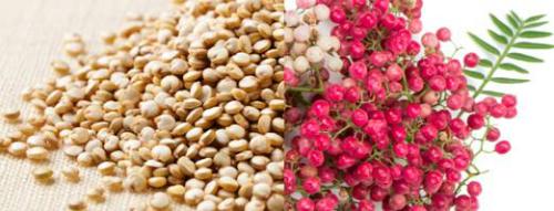 Hạt Quinoa và hạt tiêu hồng - Chất đốt mỡ thừa tự nhiên