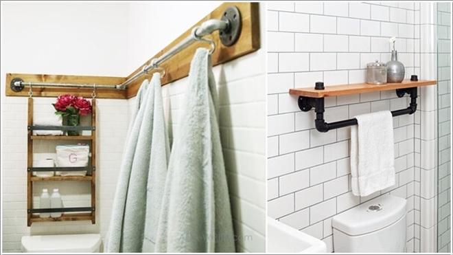 Ống nước biến thành đồ nội thất cho gia đình