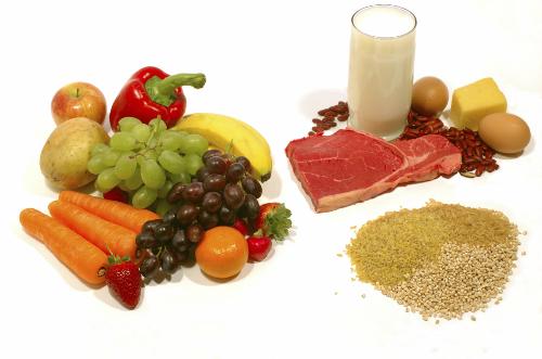 Người già nên bổ sung các thực phẩm ít năng lượng nhưng giàu dưỡng chất nhưtrái cây, rau xanh, ngũ cốc nguyên hạt, cá, thịt nạc và các chế phẩm sữa ít chất béo...