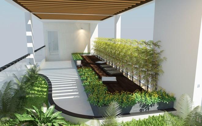 Nhà 4 tầng hiện đại cho gia đình 3 thế hệ