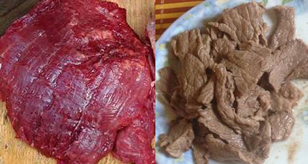 phân biệt thịt bò giả