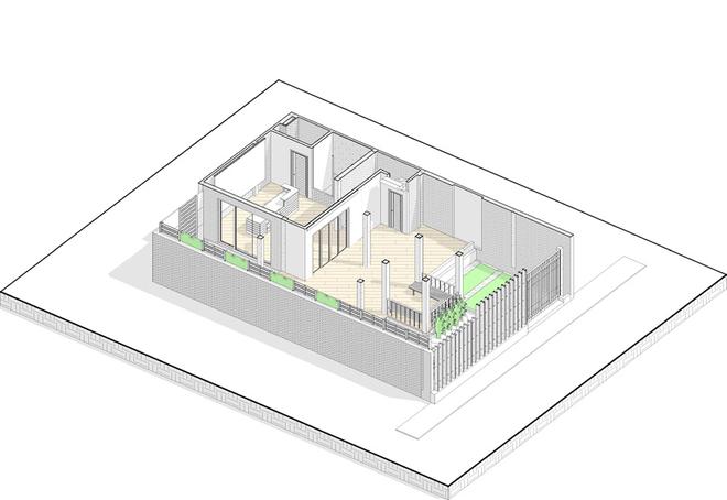 Cải tạo nhà 3 tầng thành xanh mướt với 500 triệu