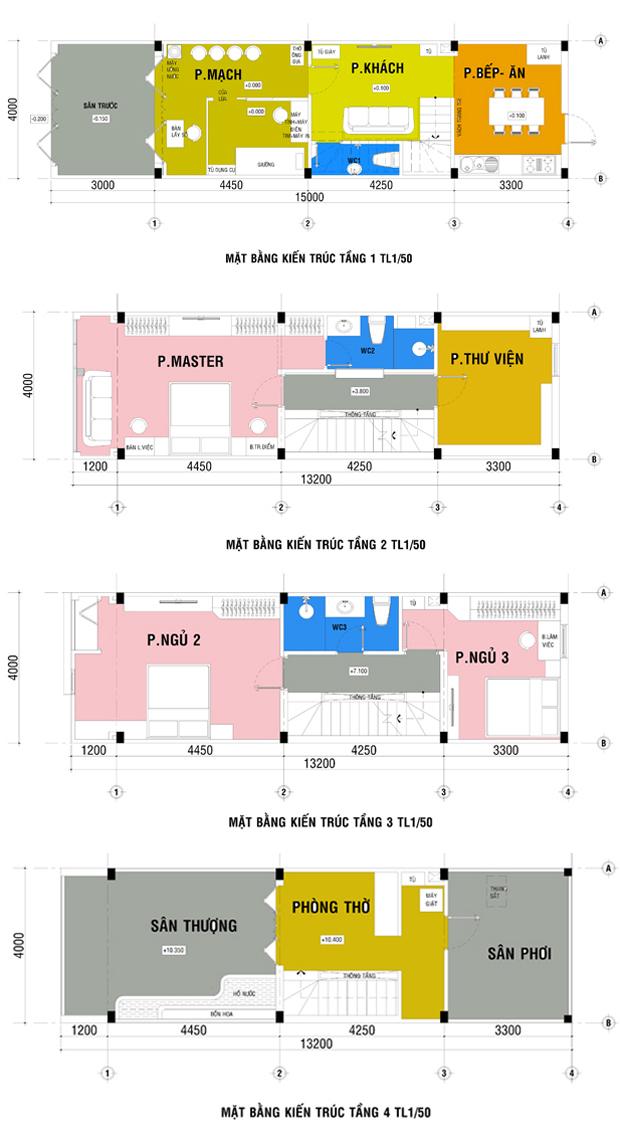 nha hien dai dep 1444957911 660x0 Thiết kế xây nhà ống 60 m2 với tông trắng chủ đạo