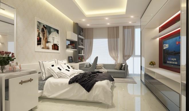 nha hien dai dep 9 1444957482 660x0 Thiết kế xây nhà ống 60 m2 với tông trắng chủ đạo