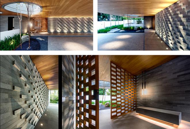 Thay vì lựa chọn nhiều màu sắc, các kiến trúc sư tập trung vào chất liệu, họa tiết với sự tỉ mỉ, tinh tế trong từng chi tiết